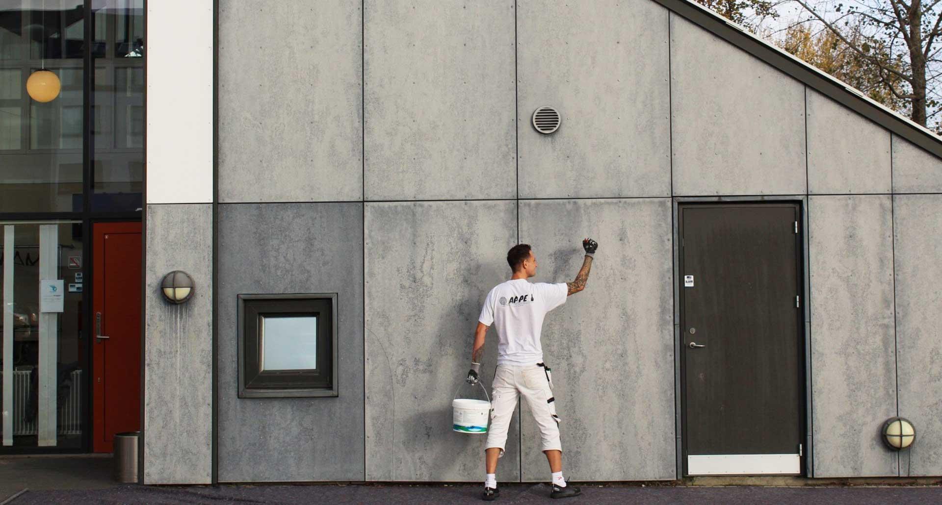 Maling af facader for erhverv