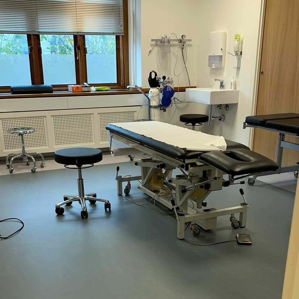 Gulvlægning klinik, sygehus og terapi