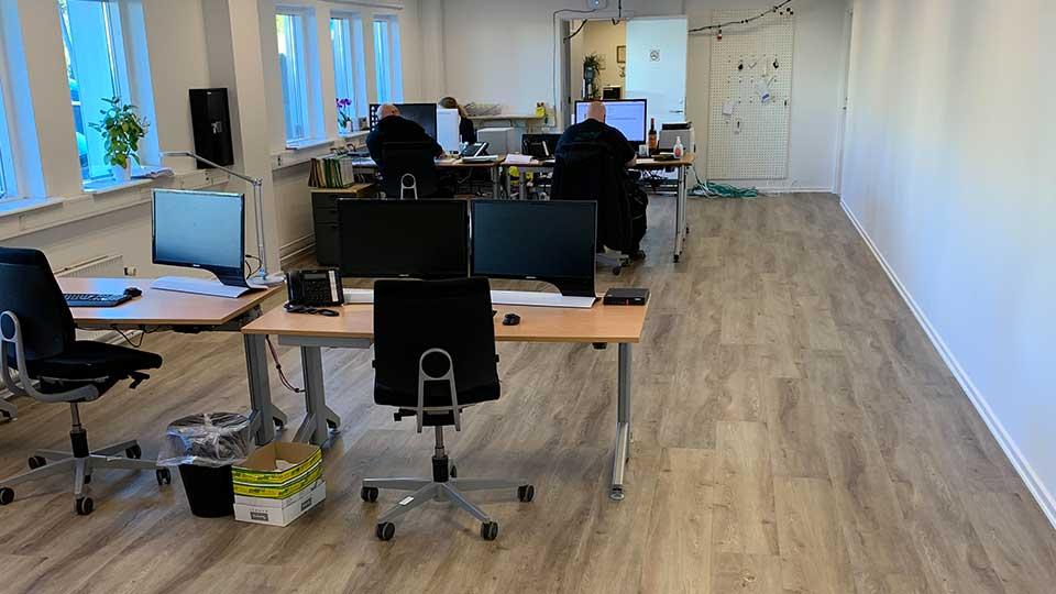 Gulvlægning i kontor og storrum