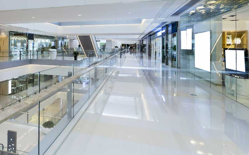 Gulvlægning for butik og storcenter