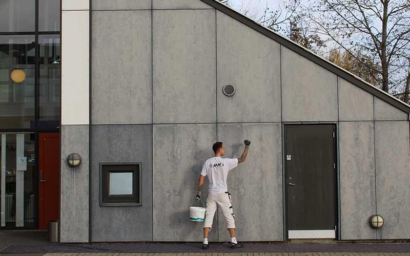 Maling af facader offentlige virksomheder