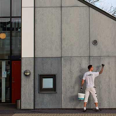 Maling af facader for virksomheder og erhverv