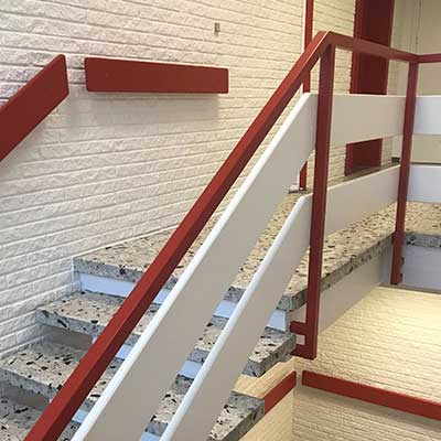 Maling af trappeopgange for virksomheder og erhverv